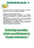 Viimeisin jäsentiedote - Suomen Reumatologinen Yhdistys - Page 6