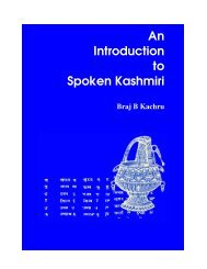 Introductory Pages - An Introduction to Spoken Kashmiri