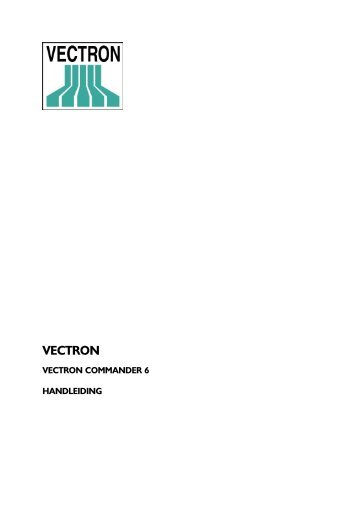 Manual VCOM6 nl - Service - Vectron Systems AG