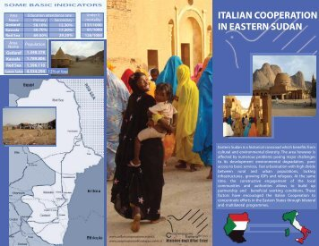 Italian Cooperation in East Sudan - Italian Development Cooperation