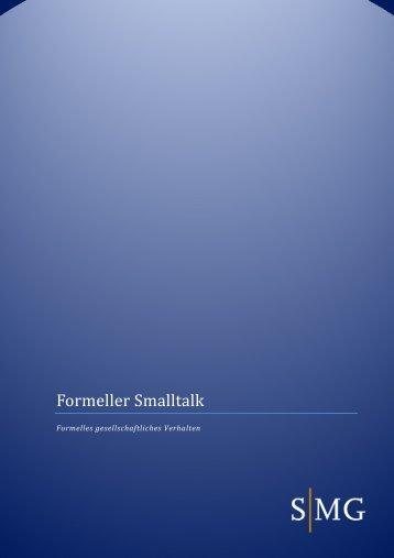 Formeller Smalltalk - SMG Sales Management Group