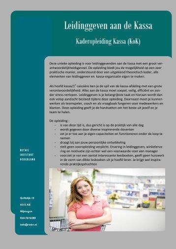 Kaderopleiding Kassa (KOK) - RIN BV