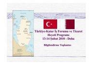 Türkiye-Katar İş Forumu ve Ticaret Heyeti Programı 13-14 Şubat 2010