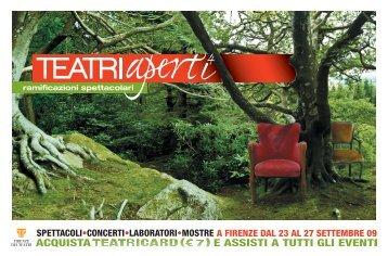 teatriaperti_2009 - Firenze dei Teatri