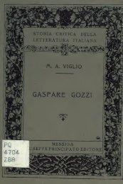 Gaspare Gozzi, vita e opere