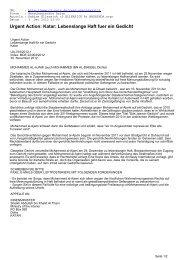 Urgent Action: Katar: Lebenslange Haft fuer ein Gedicht - CL-Netz