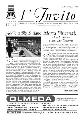 """""""L'Invito"""" settembre 2007 1587 Kb - Associazione Amici del Carlo ..."""