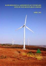 Rapid biological assessments of 5 windfarm ... - Inox Renewables