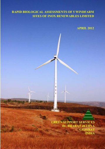 Rapid biological assessments of 5 windfarm ... - Inox Renewables