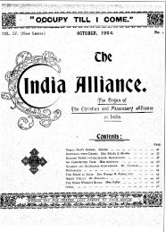 the india - Christian and Missionary Alliance