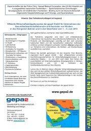 Projektflyer Katar Juni 2013 - gepa2