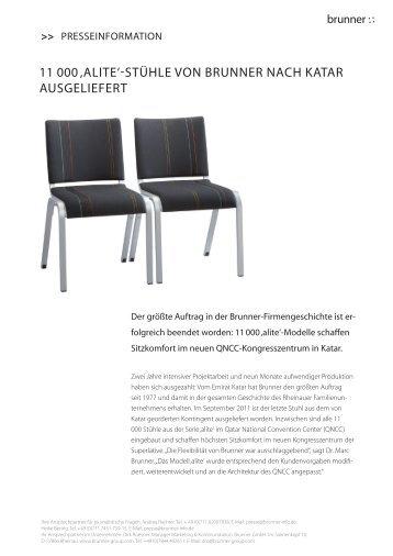 11 000 'alite'-stühle von Brunner nach Katar ausgeliefert - con:text