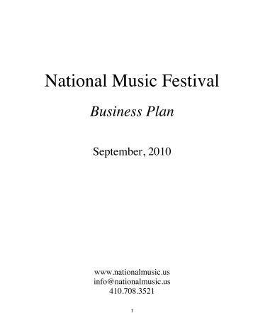 Music festival business plan