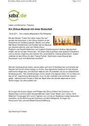 Bericht der Böblinger/Sindelfinger Zeitung. - Realschule am Goldberg