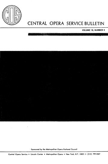 Central Opera Service Bulletin - 1977 - CPANDA