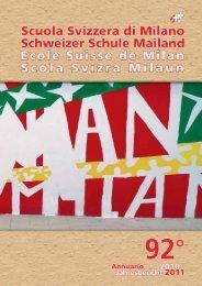 Annuario nr. 92 - anno scolastico 2010 2011 - Scuola Svizzera Milano