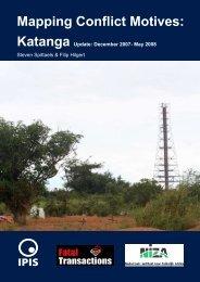 Mapping Conflict Motives: Katanga Update: December 2007 - Ipis