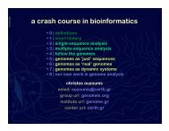 a crash course in bioinformatics - DNA and Chromosomes: Physical ...