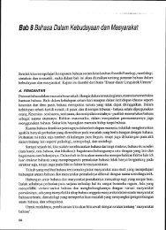 Bab 8 Bahasa Dalam Kebudayaan dan Masyarakat - Elearning