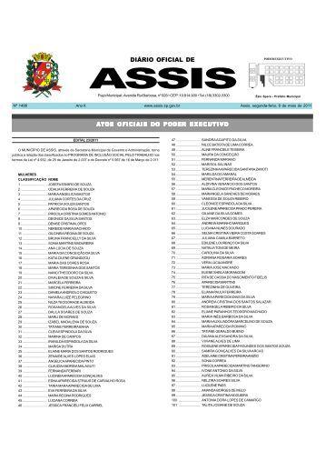 Diário Oficial DE ASSIS - FEMAnet