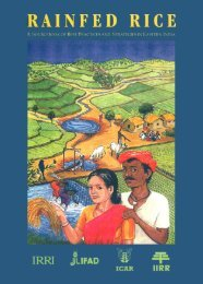 Rainfed rice - IRRI books - International Rice Research Institute