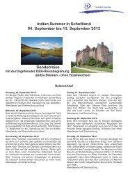 Indian Summer in Schottland 04. September bis 13 ... - Bremen