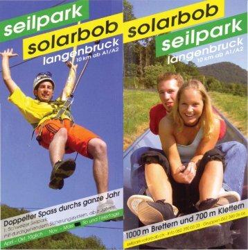 Prospekt / Flyer Rodelbahn und Umgebung zum ... - Solarbob