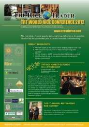 TRT WORLD RICE CONFERENCE 2012 - The Rice Trader World ...