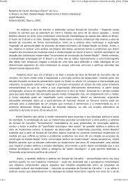 Resenha de Carlos Henrique Gileno* do livro - Laboratório de ...