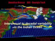 Interannual to decadal variability in the Indian Ocean - Yale University