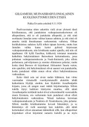 GILGAMESH, MUINAISBABYLONIALAINEN ... - Pekka Ervast