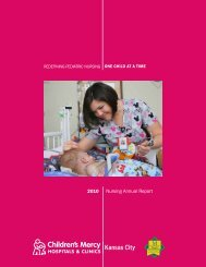 2010 Nursing Annual Report - Children's Mercy Hospital