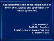 Seasonal prediction of the Indian summer monsoon: science and ...