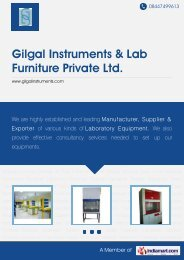 Download PDF - Gilgal Instruments & Lab Furniture Private Ltd.