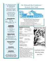St. Edward the Confessor - Download Parish Bulletin