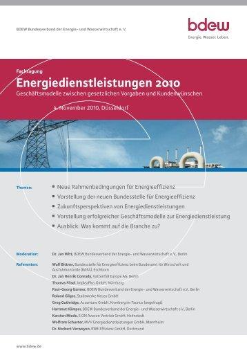 """Fachtagung """"Energiedienstleistungen 2010"""" 4. November ... - TAM"""