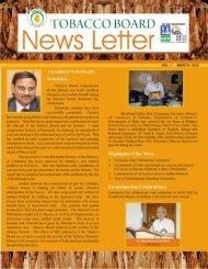 News Letter (Vol-1,Mar,2012) - Tobacco Board