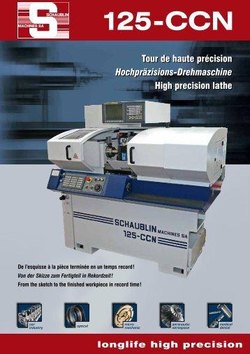 Télécharger (PDF) 125-CCN 0i-TC R-T D1 - Schaublin Machines SA