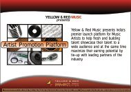 to Download the Artist Promotion Platform - Yellow & Red Music