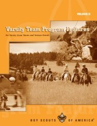 varsity team program features volume ii - Boy Scouts of America