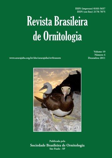 Revista Brasileira de Ornitologia 19 - Sociedade Brasileira de ...