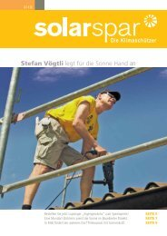 Ausgabe 3/2010 - Solarspar