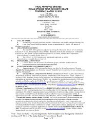 final approved minutes indian springs town advisory board