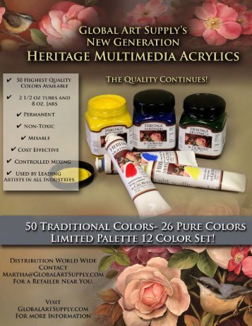 Click Here......... Heritage Color Paint Flyer.pdf - Global Art Supply