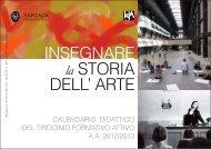 Calendario Didattico Tirocinio Formativo Attivo - Arti e Scienze dello ...