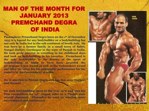 man of the month for january 2013 premchand degra of india - ABBF