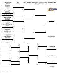 2013 NYSPHSAA Wrestling Championships-PRELIMINARY ...