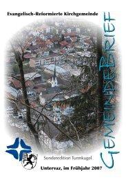 GB Uv 2007 - Sonderedition - Reformierte Kirchgemeinde Untervaz