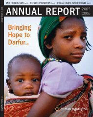 2005/06 Annual Report (PDF) - Human Rights First