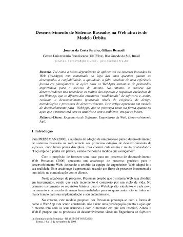 Desenvolvimento de Sistemas Baseados na Web ... - seminfo.com.br